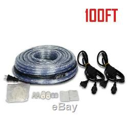 100FT LED Rope Light Home In/Outdoor Christmas Decorative Party Lighting Holiday
