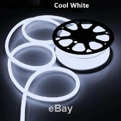 100ft LED Flex Neon Rope Light Waterproof Party Home Club Decor 110V Cold White