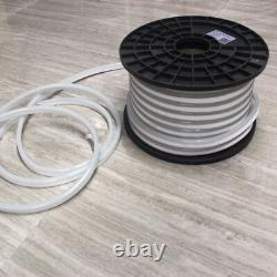 100ft SMD 2835 Pure White LED Neon Rope Light Strip for Room Garden Party Decor