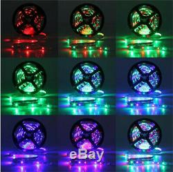 10M 3528 SMD RGB 600 LED Lighting Strips 44 Key Remote Controller For Xmas Dec