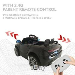 12V 3 Speed Kids Ride On Car Remote Control WithLED Lights MP3 Christmas Gift US