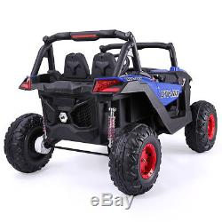12V Kids Ride On Truck Car Remote Control withLED Lights MP3 Christmas Gift Blue