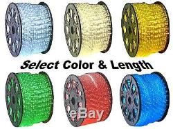 12V LED Rope Lights Home Auto Boat Lighting Red Green Blue Cool & Warm White