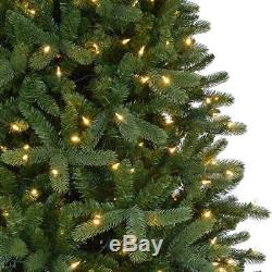 12 ft. Pre-Lit LED Morgan Pine Quick Set Artificial Christmas Tree White Lights