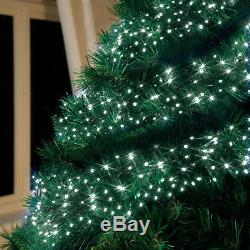 1512 Warm White LED Multi Action Cluster Light clear Cable Christmas xmas bright