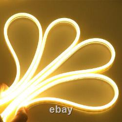 164FT 12V Flexible Xmas LED Neon Strip Lights Silicone Tube Waterproof 8 Colors