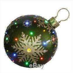18 Green Resin Ornament Christmas Holiday Outdoor LED Lighted Decoration
