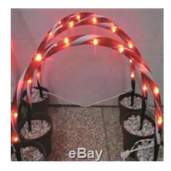 20x11 3 Piece Lighted Candy Cane Arch Pathway Driveway Marker Christmas Decor
