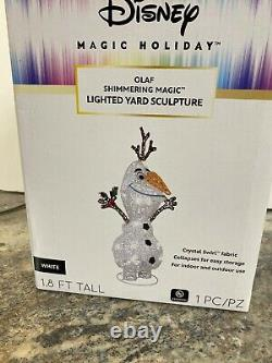 22 Disney Magic Holiday OLAF Shimmering Magic Lighted Yard Sculpture NEW