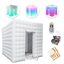 2.5M 110V 2 Door Inflatable Photo Booth LED Light Party Birthday Wedding Tent