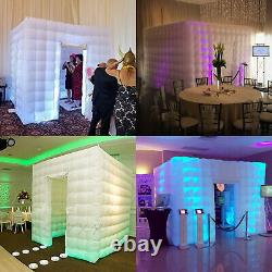 2 Door Inflatable LED Air Pump Photo Booth Tent Portable Light-weighted Proms