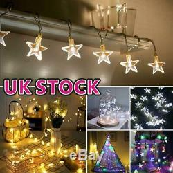 30 LED Battery Star Fairy String Lights Xmas With Timer Indoor Outdoor