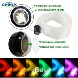 32W RGBW LED Fiber Optic Ceiling Light Wall Touch Control 2rolls 400pcs 4m Cable