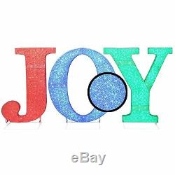 32 Tall Christmas Holiday LED Lighted Indoor / Outdoor JOY Sign Yard Decor