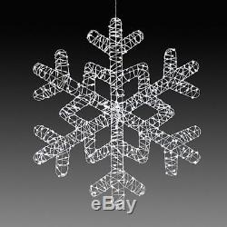 36 LED Lighted Dazzling Ice Snowflake Outdoor Christmas Decoration 400 Lights