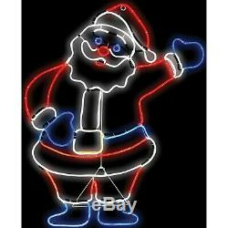 3FT Animated Waving Santa Outdoor Yard Lawn Christmas Decoration LED Lighted NEW