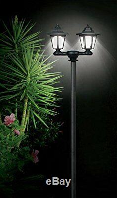 3 In 1 Solar Powered Garden Lamp Post Wall White Led Light Xmas Gift New