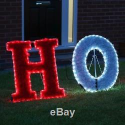 3m LED Christmas HoHoHo Silhouette Outdoor Garden Tinsel Santa Display Feature