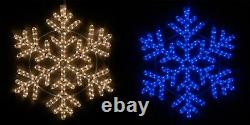 42 Point LED Snowflakes Indoor Outdoor Christmas Holiday Hanging Light Decor