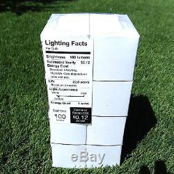 48FT LED Outdoor Waterproof Commercial Grade Patio String Lights Bulbs 4 Pack