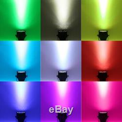 4Pcs 200W LED RGBW Par64 Light DMX512 8CH 54x3W Stage Washer Wedding DJ Xmas New