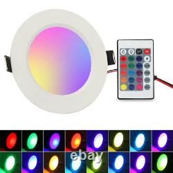 4-32X Color Changing RGB 5W LED Ceiling Light Recessed Panel Downlight Spot Lamp