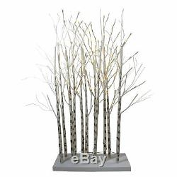 4' LED Lighted White Twig Tree Cluster Outdoor Christmas Yard Art Decoration