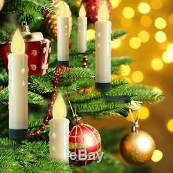 50Pcs LED Christmas Flameless Tree Candle Lights, Wireless, Battery Operated
