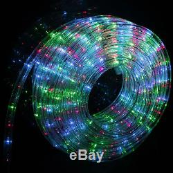 50' 100' 150' 300' LED Rope Light Home Outdoor Christmas Decorative Party 7Color