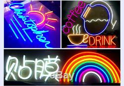 50ft Blue LED Neon Flex Rope Light In/Outdoor Commercial Sign Making Home Decor