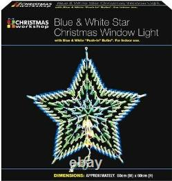 54cm Christmas 35 LED Star Silhouette Animated Outdoor Xmas Decoration Lights