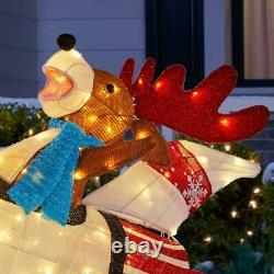 5.5 FT Led Lighted Holiday Outdoor Indoor Christmas Yard Decoration Display NEW
