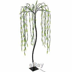5.5 FT Weeping Willow Tree 200 LED Lights Decor Outdoor Deck Patio Adjustable