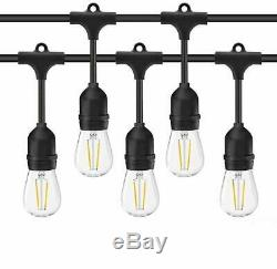 5 X 48FT LED Outdoor Waterproof Commercial Grade Patio Globe String Lights Bulbs
