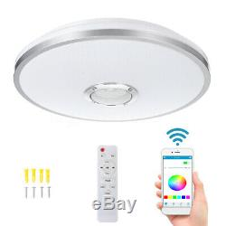 60W LED RGB Music Ceiling Lamp bluetooth APP+Remote Control Home Bedroom Light