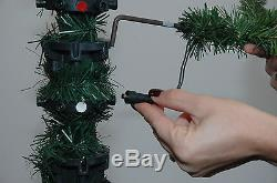 6.5' Cascade Fir Artificial Christmas Tree with Clear LED Lights