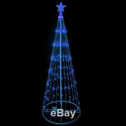 6' Animated LED Lighted BLUE SHOW CONE Tree Outdoor Christmas Yard Decoration