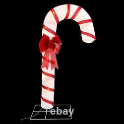 6' Giant Christmas Candy Cane LED Lights Holiday Outdoor Yard Porch Decoration