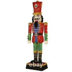 6' Nutcracker Soldier Holiday Yard Christmas Decoration Outdoor 300 LED Lights