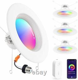 6 inch 15W RGBCW Recessed Ceiling Fixtures LED Downlight Bluetooth Can Lights