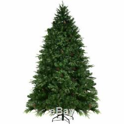 7.5Ft Pre-Lit Artificial Christmas Tree Hinged with 540 LED Lights Home Decorati