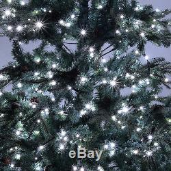 7.5 ft Pre-lit Artificial Christmas Tree with750 LED Lights & Stand Holiday Season