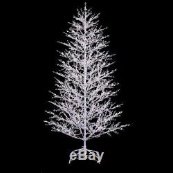 7 ft. White Winterberry Branch Tree LED Lights Christmas Artificial Outdoor