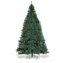 8Ft Pre-Lit Artificial Christmas Tree Premium Hinged with 750 LED Lights & Stand