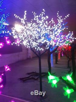 8.2ft pre-lit LED Xtmas artificial cherry blossom tree light outdoor lighting