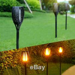 96 Led Solar Large Dancing Flame Torch Lights Garden Outdoor Wedding Party Xmas