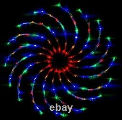 96 Led Star Light Silhouette Window Flashing Spinner Chaser Spiral Wedding Party