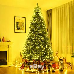 9Ft Artificial Christmas Tree Pre-Lit Hinged with 1000 LED Lights & Stand Indoor