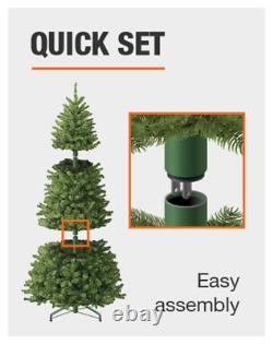 9-FT LED OVERLAND PINE ARTIFICIAL TREE with600 SURE-BRIGHT COLOR-CHANGING LIGHTS