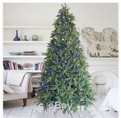 9 Foot Dunhill Fir Christmas Tree With 1000 LED Lights. (Warm White & Color)